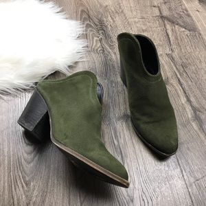 Chinese Laundry Kelso open back boots olive green